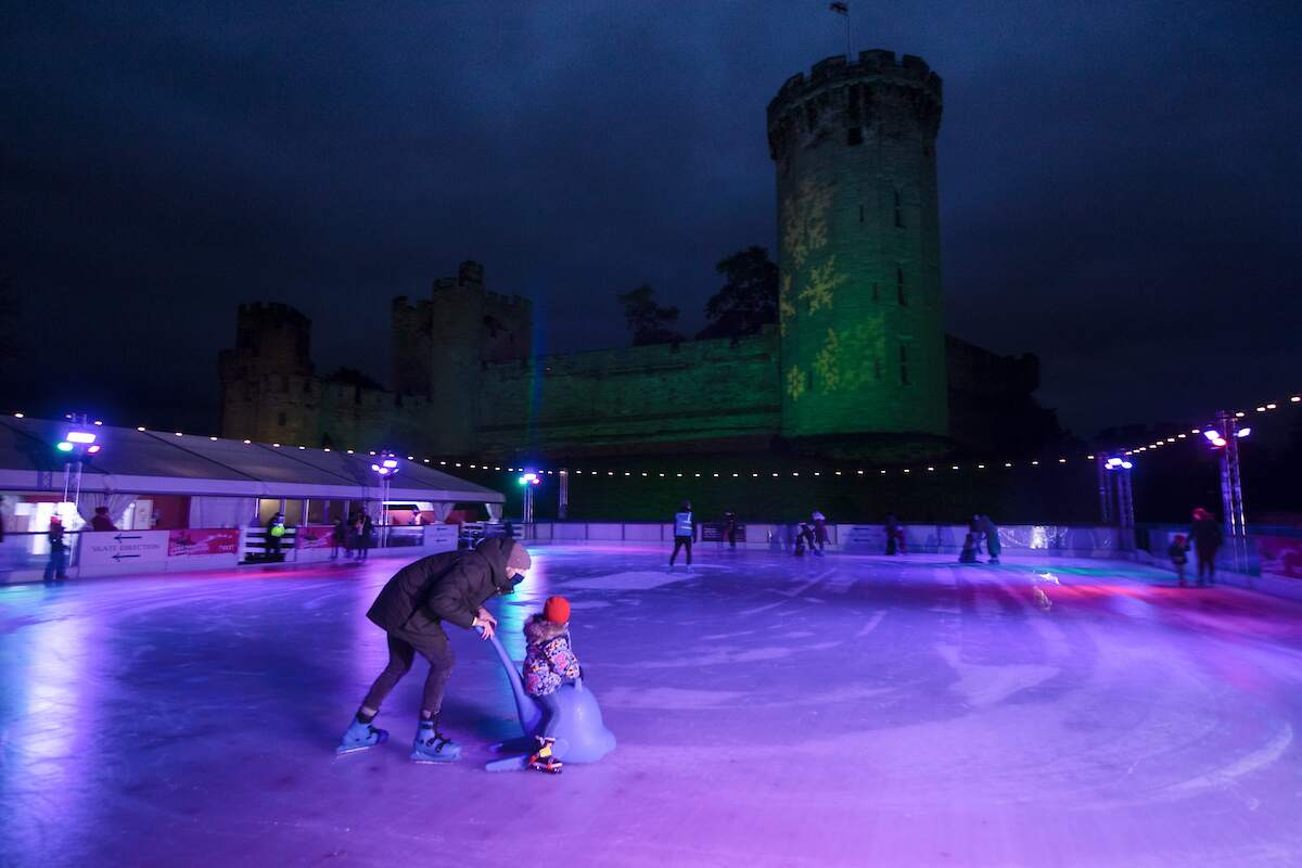 Warwick Castle Ice Rink in association with Merlin Entertainments and Warwick Castle | Christmas At The Castle Channel 4 Documentary